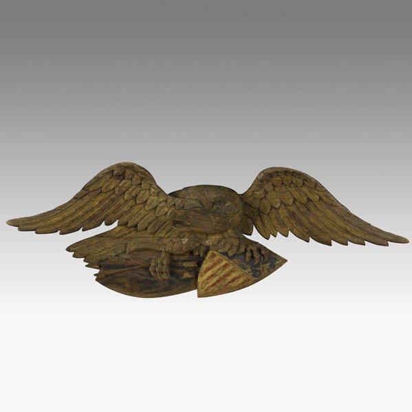 532: CARVED EAGLE STERNBOARD