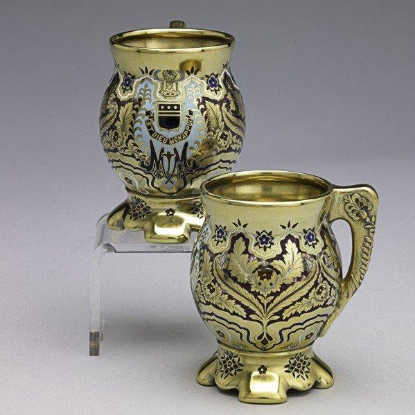 7: TIFFANY & CO. MACKAY ENAMELED SILVER COFFEE CUPS