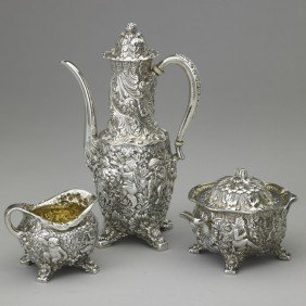 13: TIFFANY & CO. AFTER-DINNER SILVER COFFEE SERVICE