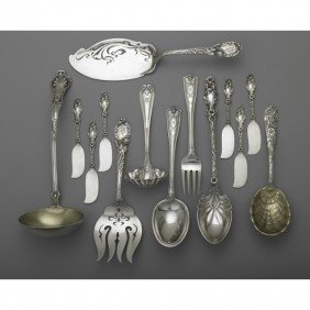 ORNATE AMERICAN SILVER FOR THE TABLE