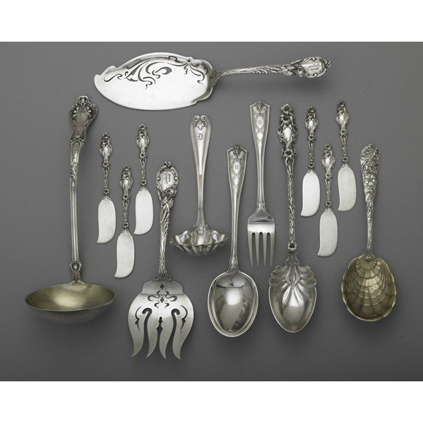 20: ORNATE AMERICAN SILVER FOR THE TABLE