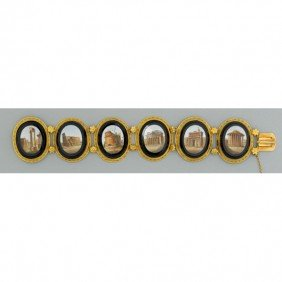 MICROMOSAIC 18K GOLD BRACELET, VATICAN WORKSHOPS
