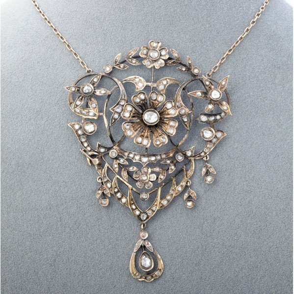 2021: VICTORIAN DIAMOND STOMACHER FORMED AS NECKLACE