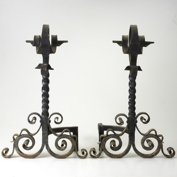 21: ARTS & CRAFTS ANDIRONS