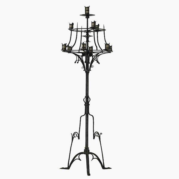 1: SAMUEL YELLIN; Massive candelabrum