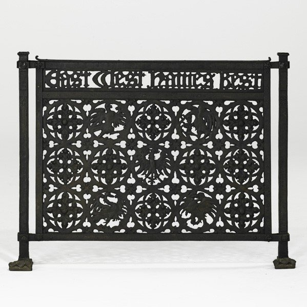 17: PARKE EDWARDS; Rare wrought-iron firescreen