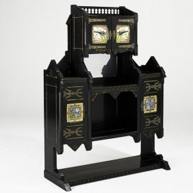 KIMBEL & CABUS; Large Tiled Cabinet
