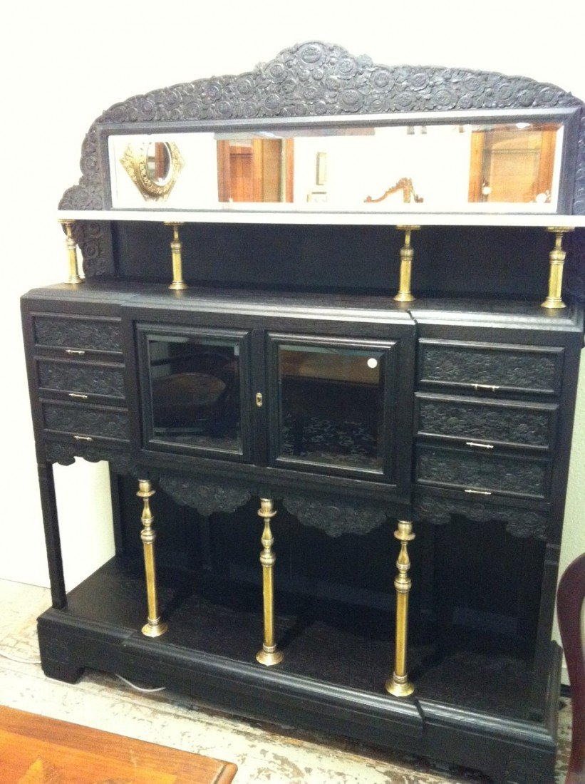 26: HERTER BROTHERS; Large cabinet - 4