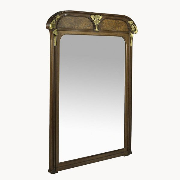 31: LOUIS MAJORELLE; Large over-mantel mirror