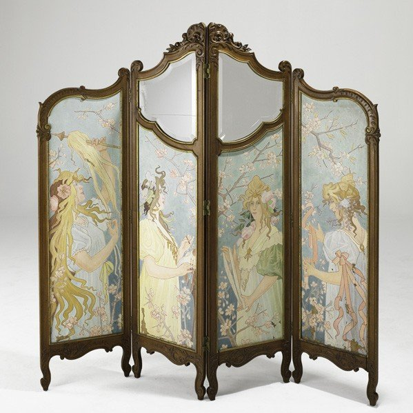 34: FRENCH ART NOUVEAU; Screen