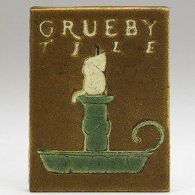 GRUEBY; Tile With Candle