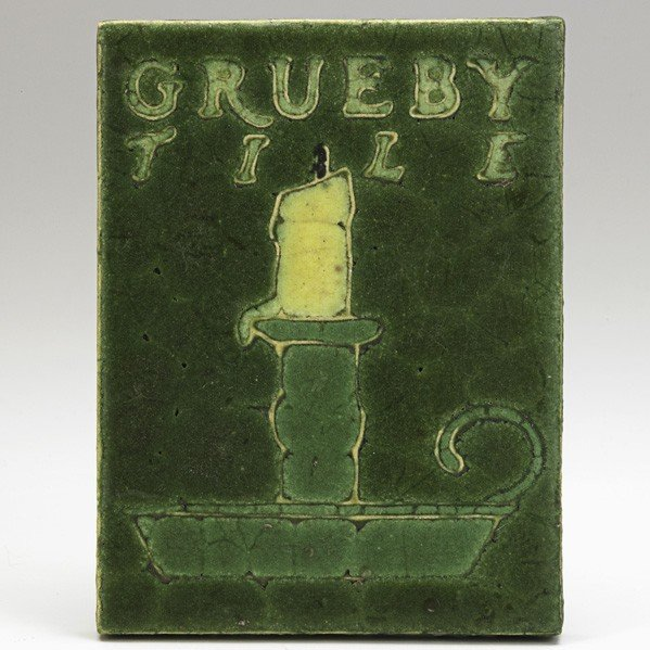 40: GRUEBY; Tile with candle