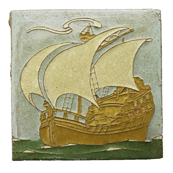 43: GRUEBY; Tile of ship