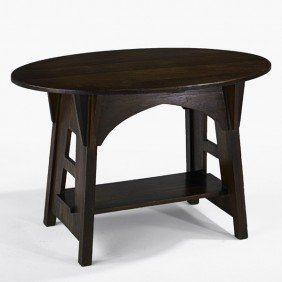 LIMBERT; Oval Library Table