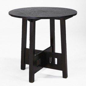 LIMBERT; Round Lamp Table