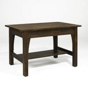 GUSTAV STICKLEY; Library Table