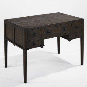 GUSTAV STICKLEY; Five Drawer Desk