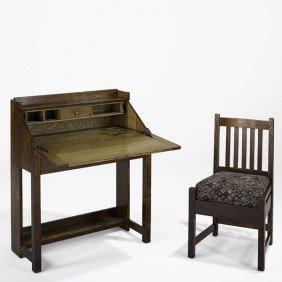 LIMBERT; Drop-front Desk And Chair