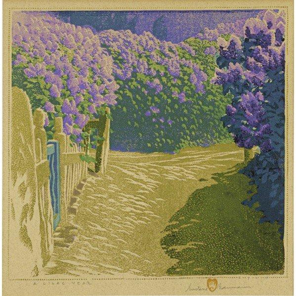 270: GUSTAVE BAUMANN; Color woodblock print