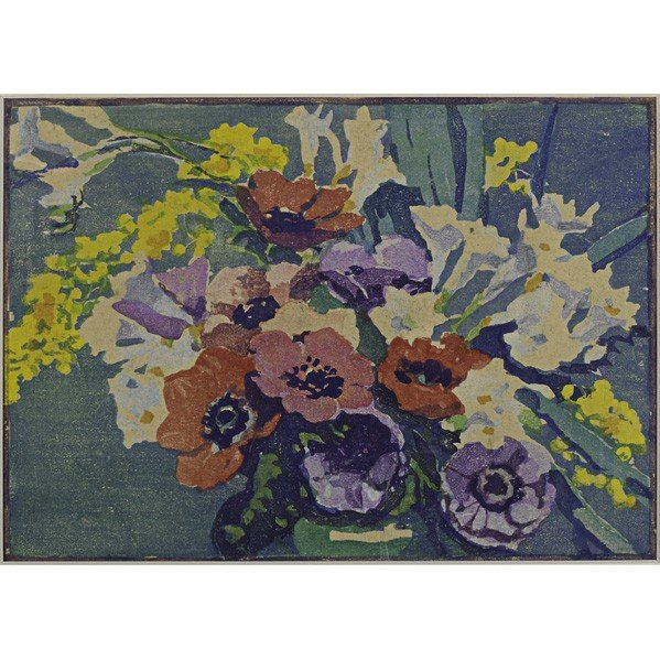 271: MARGARET PATTERSON; Color woodblock print