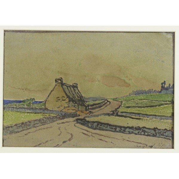 272: MARGARET PATTERSON; Color woodblock print