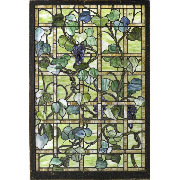 275: ARTS & CRAFTS; Large leaded glass window