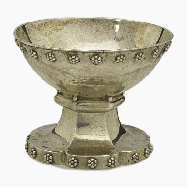 283: WILLIAM HAIR HASELER; Sterling christening cup