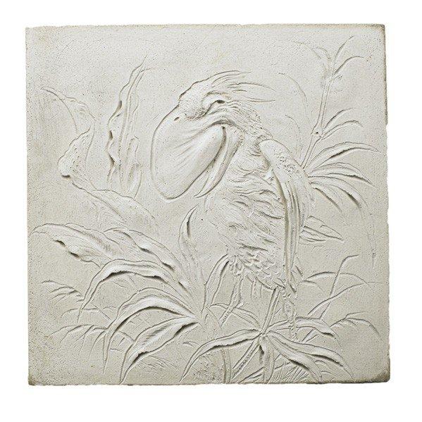 286: MARTIN BROTHERS; Stoneware tile of bird