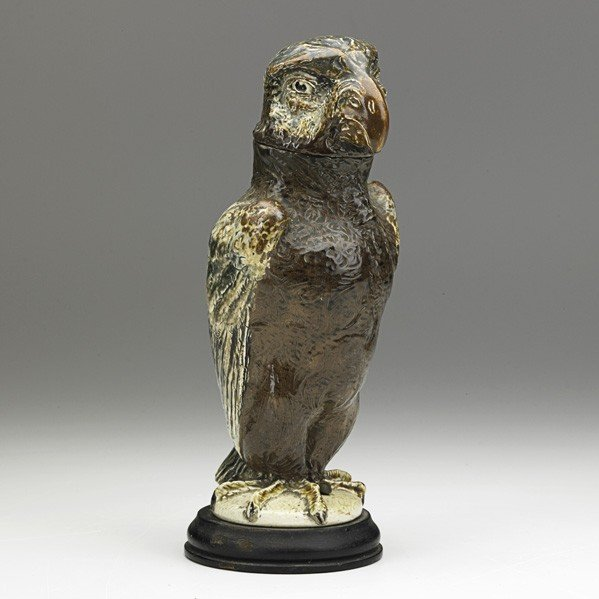 289: ROBERT W MARTIN; MARTIN BROTHERS; Bird tobacco jar