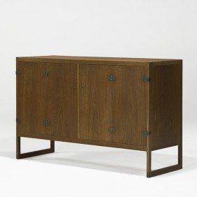 BORGE MOGENSEN; Bifold Door Cabinet