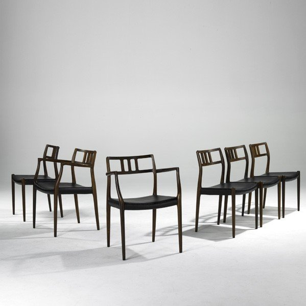 629: NIELS O. MOLLER; Six dining chairs