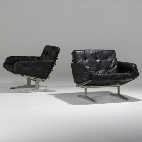 635: PAUL LEIDERSDORFF; Pair of lounge chairs