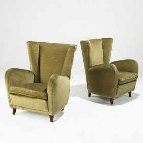 PAOLO BUFFA; Pair Of Lounge Chairs