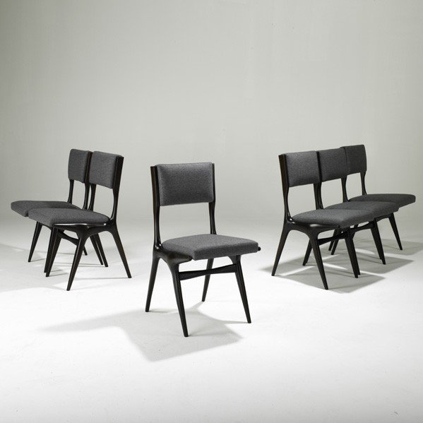 673: CARLO DI CARLI; SINGER AND SONS; Six dining chairs