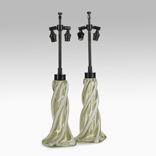 684: ARCHIMEDE SEGUSO; Pair of table lamps