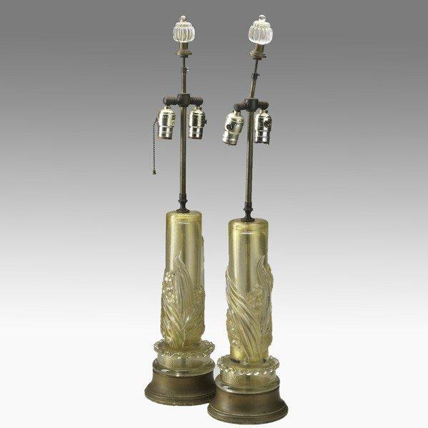 685: BAROVIER (attr.); Pair of table lamps