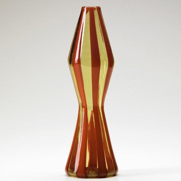 689: FULVIO BIANCONI; VENINI; Fasce verticali vase