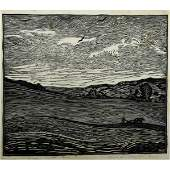 788: WHARTON ESHERICK; Woodblock print