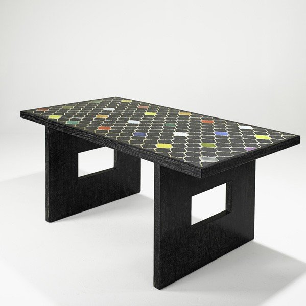 892: ANDRE SORNAY AND COLETTE GUEDEN; Dining table