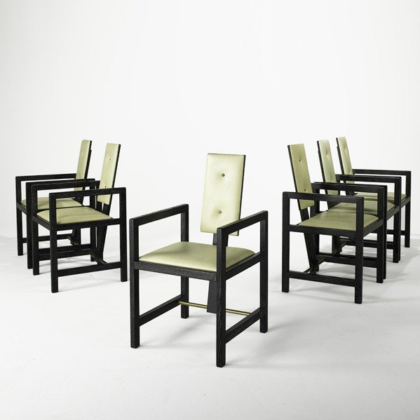 893: ANDRE SORNAY; Six dining chairs