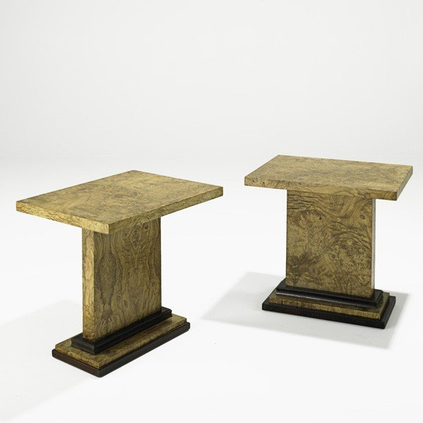 899: DOMINIQUE; Pair of side tables