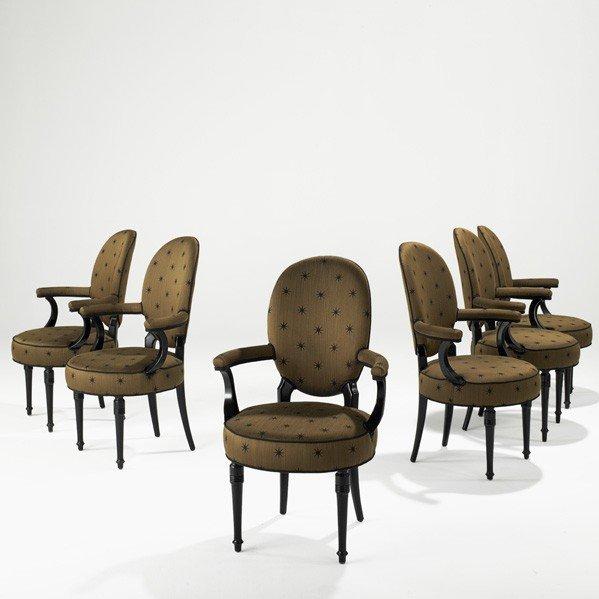 904: MAISON JANSEN; Six armchairs