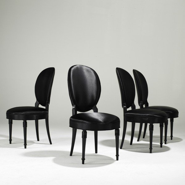 905: MAISON JANSEN; Four side chairs