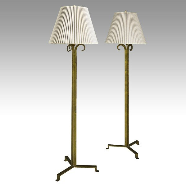912: MAISON RAMSAY; Pair of floor lamps