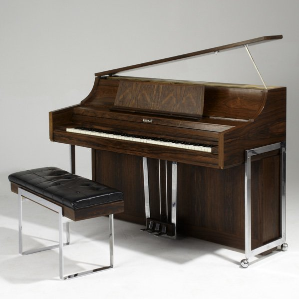 8B: KIMBALL CO.; Spinet piano and bench, Chicago, ca. 1