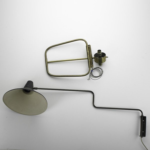 19: LUNEL; Two adjustable wall sconces, France ca. 1960
