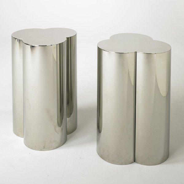 226: BRUETON; Pair of pedestals, USA, 1980s; Polished s