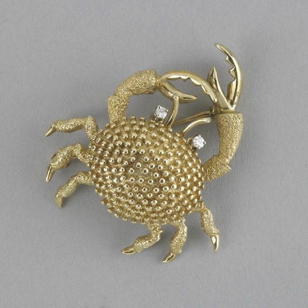 2001: DIAMOND AND GOLD CRAB BROOCH