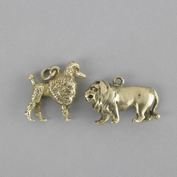 2020: TWO 14K FIGURAL CHARMS BY TIFFANY & CO.