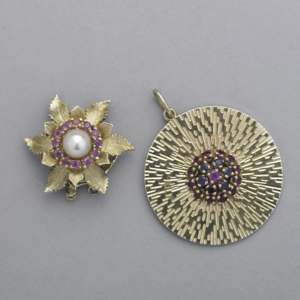 2021: 14K YELLOW GOLD JEWELRY WITH RUBIES